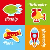 Toys icons Royalty Free Stock Photography