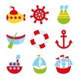 Toys icons Stock Image