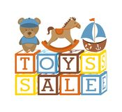Toys icons Royalty Free Stock Photo