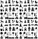Toys icons. Seamless pattern. Stock Photo