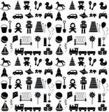 Toys icons. Seamless pattern. Stock Photo