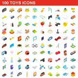 100 toys icons set, isometric 3d style. 100 toys icons set in isometric 3d style for any design illustration stock illustration