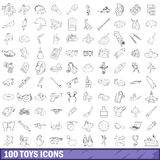 100 toys icons set, outline style. 100 toys icons set in outline style for any design vector illustration vector illustration