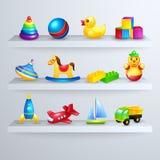 Toys Icons Shelf Royalty Free Stock Image