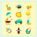 Toys icons , Vector illustration Royalty Free Stock Photos