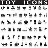 Toys Icons. On a white background with a shadow vector illustration