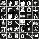 Toys icons Stock Images