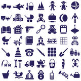 Toys icons on white Stock Photos