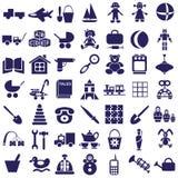 Toys icons on white Stock Photos