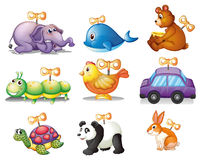 Toys. Illustration of different kind of toys Royalty Free Stock Image