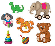 Toys. An Illustration is set of children's toys Royalty Free Stock Images