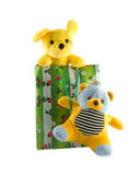 Toys In A Gift Package Stock Photography