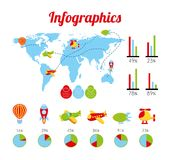 Toys infographics Stock Photos