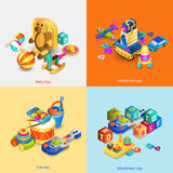 Toys Isometric Set Stock Photos