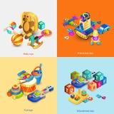 Toys Isometric Set Stock Photos