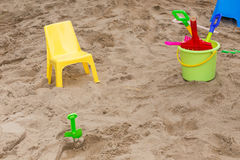 Toys of kid for playing sand enjoy Royalty Free Stock Photography