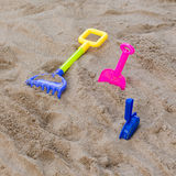 Toys of kid for playing sand enjoy Royalty Free Stock Images