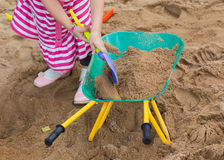 Toys of kid for playing sand enjoy Stock Photography