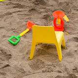 Toys of kid for playing sand enjoy Royalty Free Stock Photo