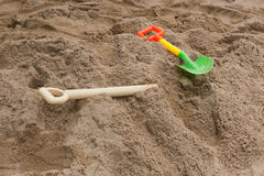 Toys of kid for playing sand enjoy Royalty Free Stock Photos