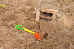 Toys of kid for playing sand enjoy Stock Images
