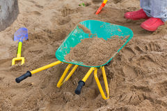 Toys of kid for playing sand enjoy Stock Image