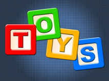 Toys Kids Blocks Means Youths Shopping And Child Stock Photo