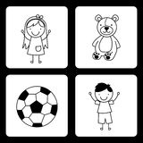 Toys kids Stock Images