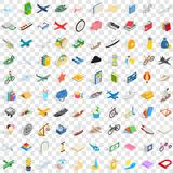 100 toys for kids icons set, isometric 3d style. 100 toys for kids icons set in isometric 3d style for any design vector illustration Stock Image