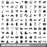 100 toys for kids icons set, simple style. 100 toys for kids icons set in simple style for any design vector illustration vector illustration