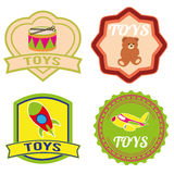 Toys labels Royalty Free Stock Photography