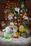 Toys And New Year`s Tree Stock Image