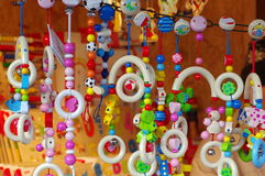 Colored toys for newborn babies. Colors Royalty Free Stock Images