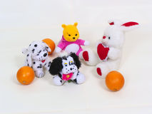 Toys_and_orange Royalty Free Stock Images
