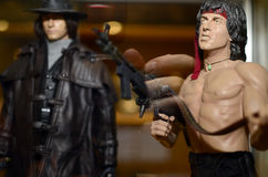Figurins toys rambo Arkivbilder