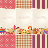 Toys & paper - banners Stock Image