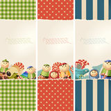Toys & paper - banners royalty free illustration