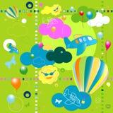 Toys pattern vector illustration