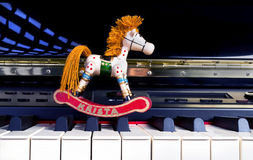 Toys on a Piano. Stock Photography