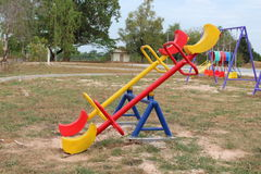Toys on the playground. royalty free stock photography