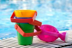 Toys for playing in water royalty free stock images