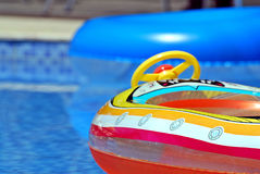 Toys in the pool Royalty Free Stock Photography