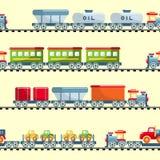 Toys railway seamless pattern Stock Photo