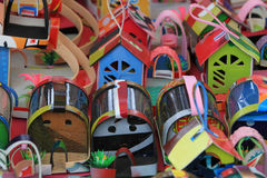 Toys from recycled material Stock Images