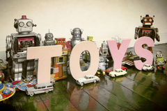 Toys robots Royalty Free Stock Images