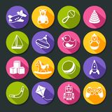 Toys Round Icons Set Royalty Free Stock Photos