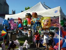 Toys For Sale at the Greek Festival Royalty Free Stock Image