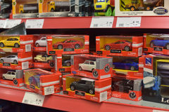 Toys for sale in a store. Royalty Free Stock Photography