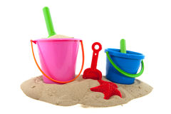 Toys in the sand Royalty Free Stock Images
