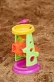Toys  and   sand Royalty Free Stock Photos